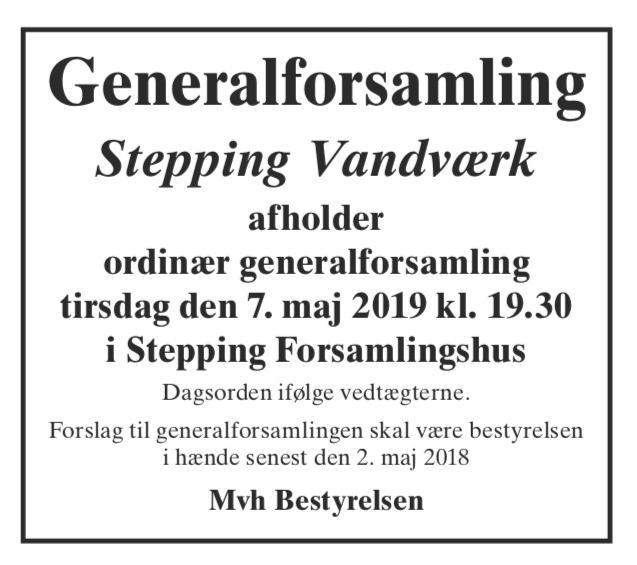 ca6f8ff60b3e Dette indlæg blev udgivet i Diverse den 17. april 2019 af Stepping Vandværk.